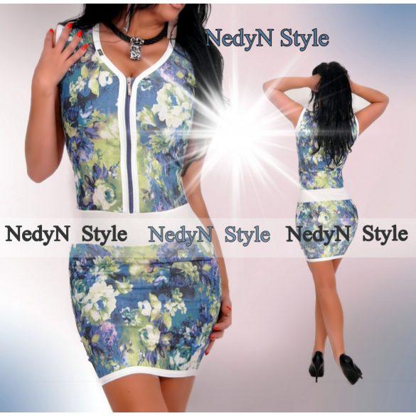 a5d1e49e84ab Kvetované šaty na zips