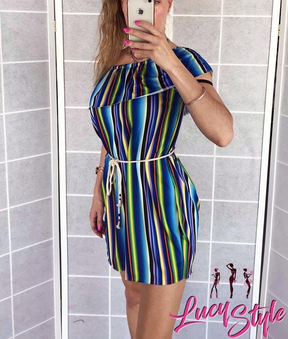Dámske farebné šaty (Dámske farebné šaty na léto)