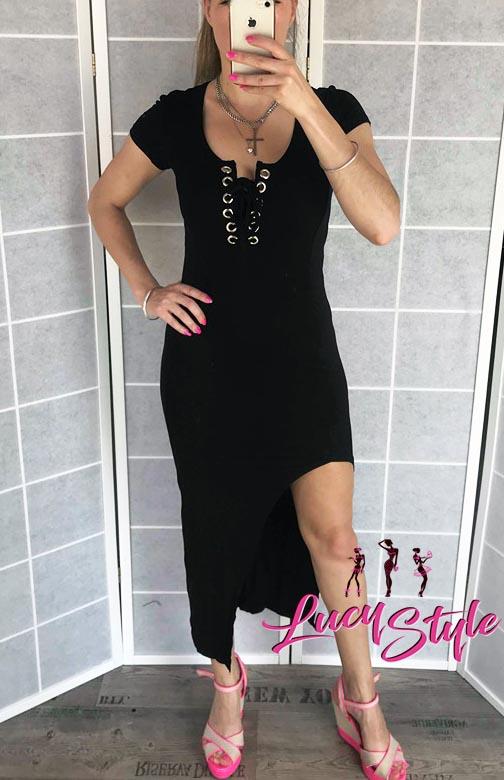 Dámske čierne dlhé šaty (Dámske čierne dlhé šaty )