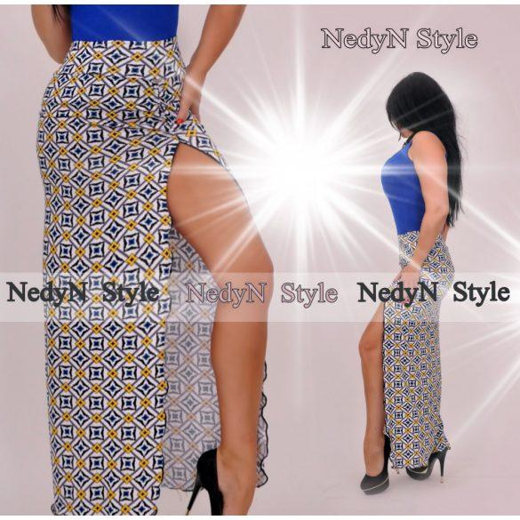 Vzorovaná dámska sukňa (Dlhá vzorovaná dámska sukňa)