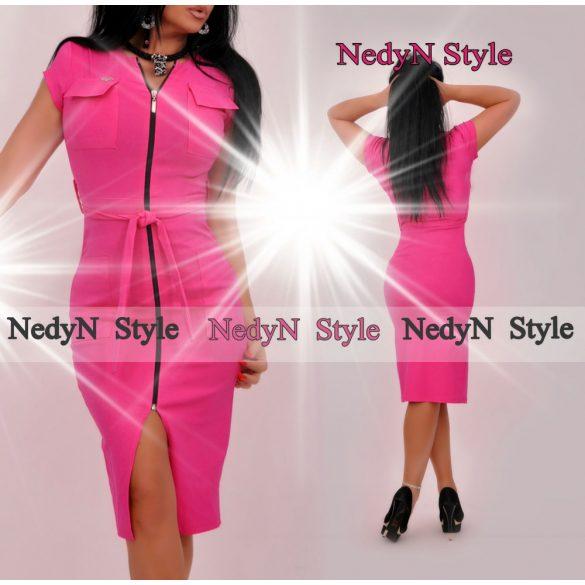 Dámske ružové šaty na zips (Dámske ružové šaty na zips)