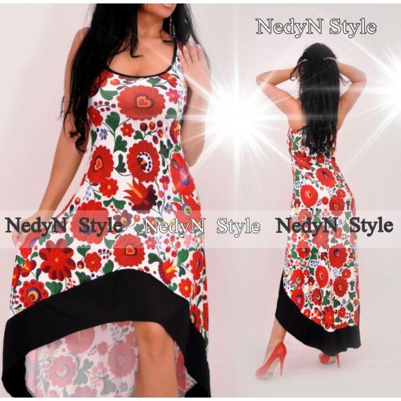 Dámske dlhé kvetované šaty (Dámske dlhé kvetované šaty)