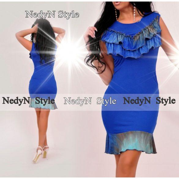 Dámske modré šaty (Dámske elegantné modré šaty )