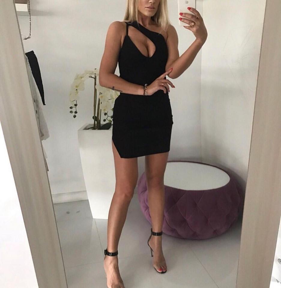 Dámske čierne šaty (Dámske sexy čierne šaty na leto)
