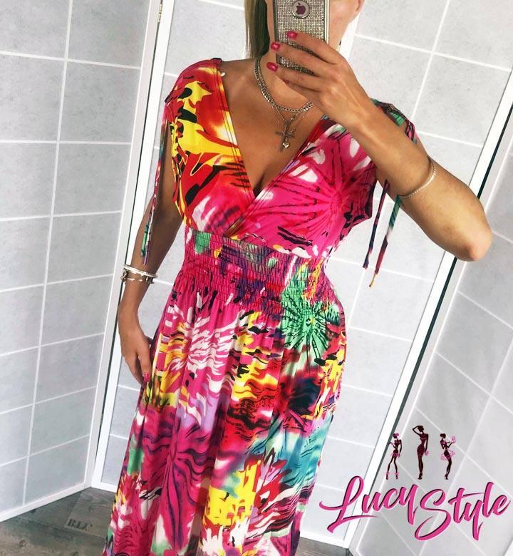 Dámske dlhé farebné šaty (Dámske dlhé farebné šaty)