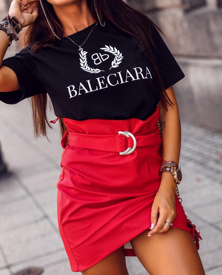 Štýlové dámske tričko,čierne BALECIARA (Štýlové dámske tričko,čierne BALECIARA)
