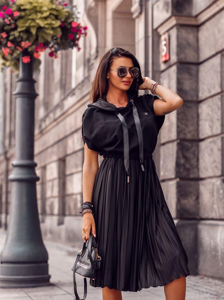 Štýlové dámske šaty,čierne (Štýlové dámske šaty,čierne,CHANEIL)