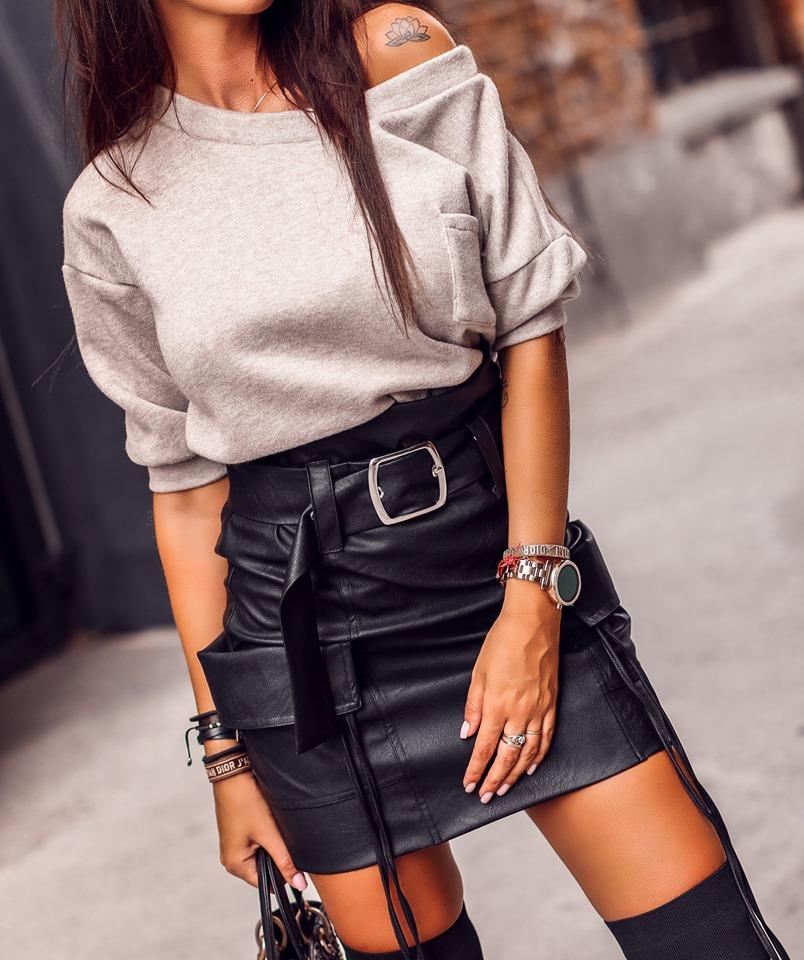 Dámska kapsačová sukňa,čierna (Štýlová dámska kapsačová sukňa,čierna)