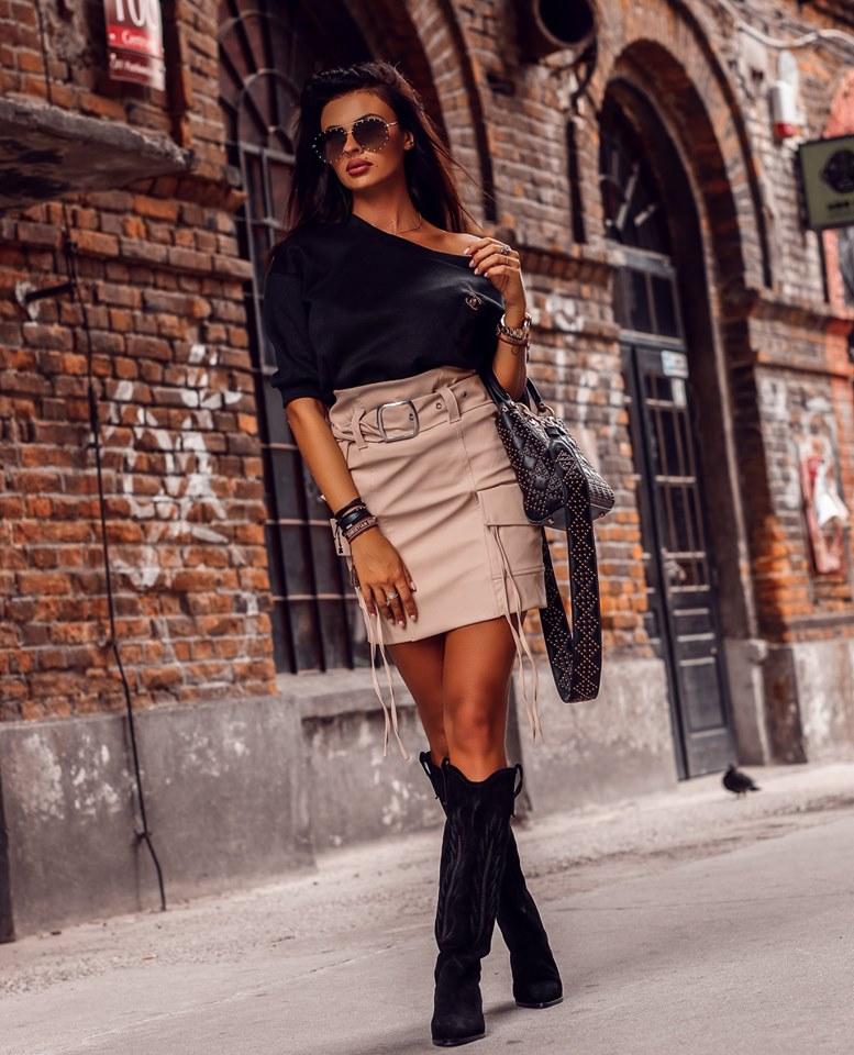 Dámska kapsačová sukňa (Štýlová dámska kapsačová sukňa)