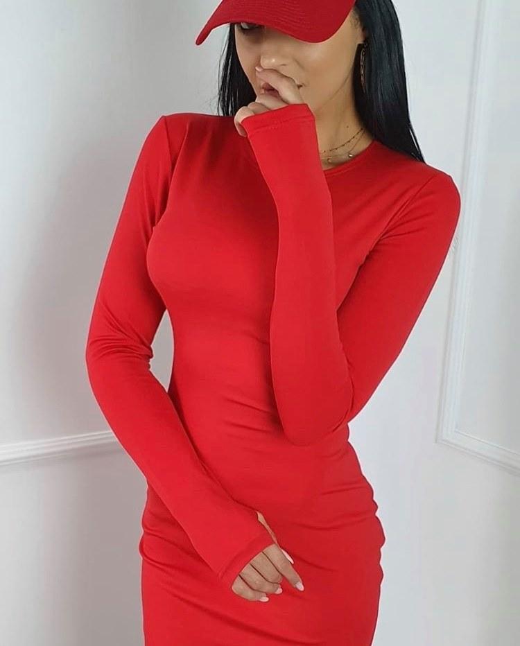 Štýlové dámske šaty s mickey mouse (Štýlové dámske šaty s mickey mouse,červené)