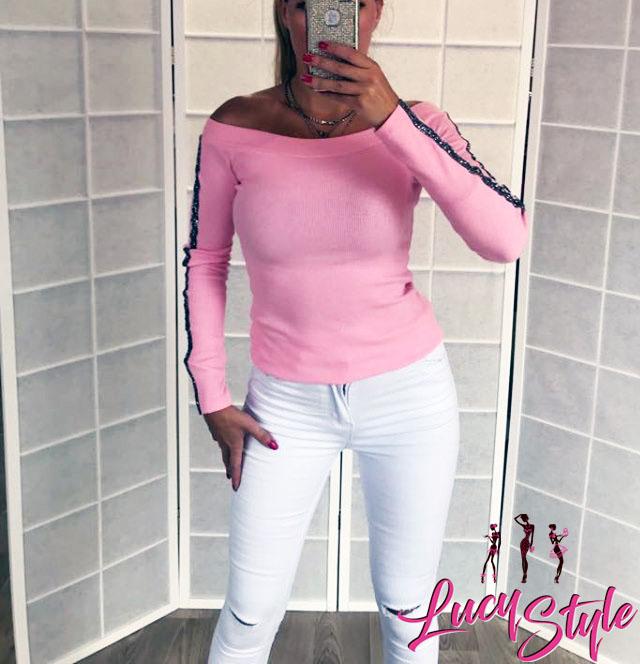 Dámske ružové bavlnené tričko (Dámske ružové bavlnené tričko)