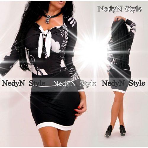 Dámske šaty ,bielo čierne (Štýlové dámske šaty,bielo čierne)