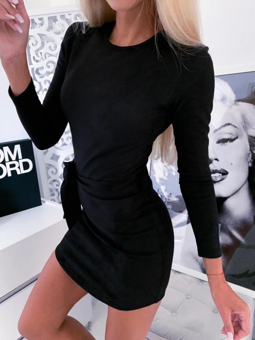 Dámske šaty s dlhým rukávom,čierne (Dámske šaty s dlhým rukávom,čierne)