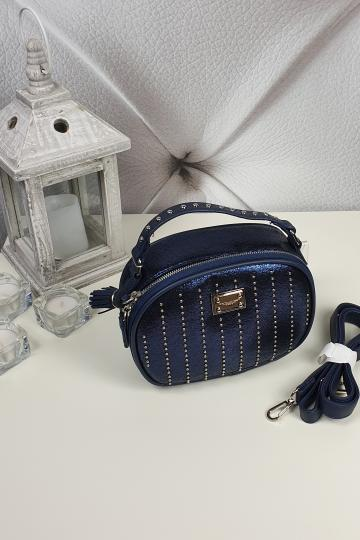 Dámska mala kabelka,modra (Štýlová dámska kabelka,modrá)