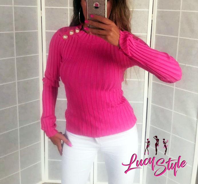 Dámske tričko s dlhým rukávom,krásne ružové (Dámske tričko s dlhým rukávom,krásne ružové)