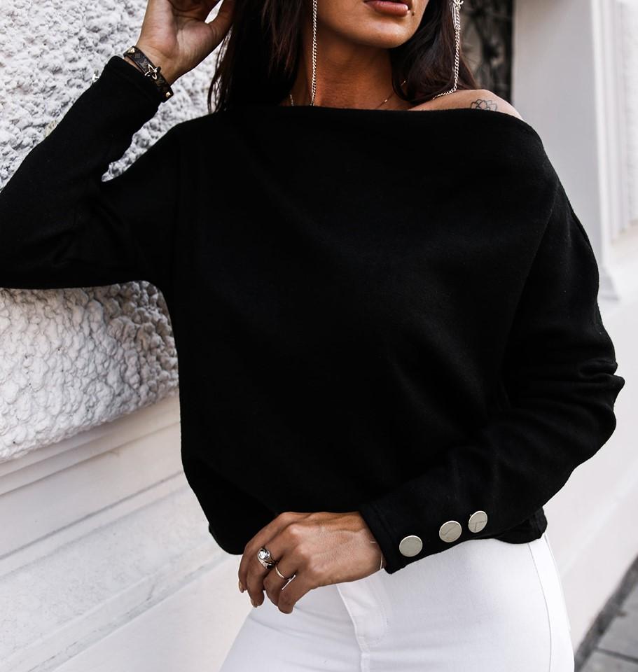 Dámsky elegantný sveter,čierny (Dámsky elegantný sveter,čierny)