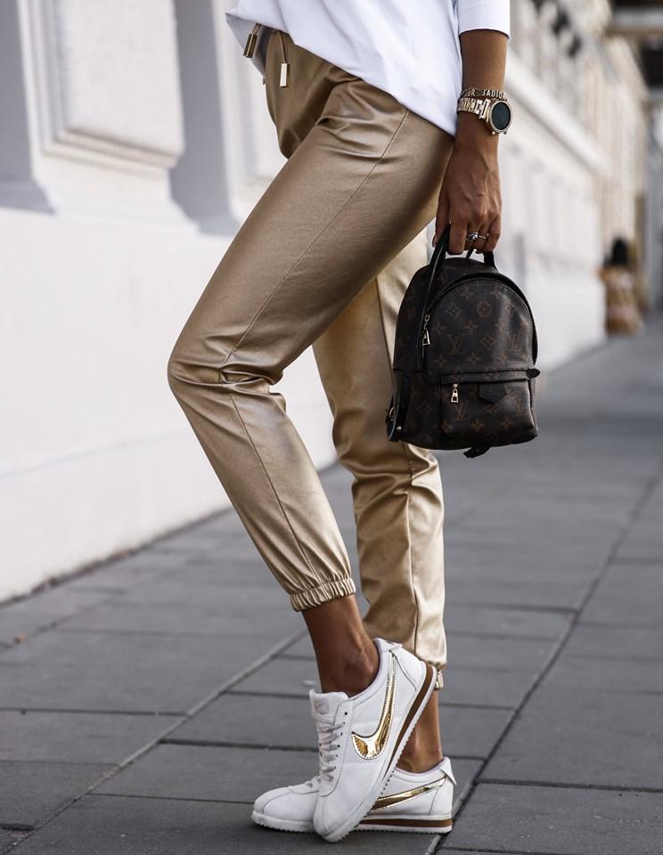 Dámske nohavice, zlate (Dámske nohavice, zlate)