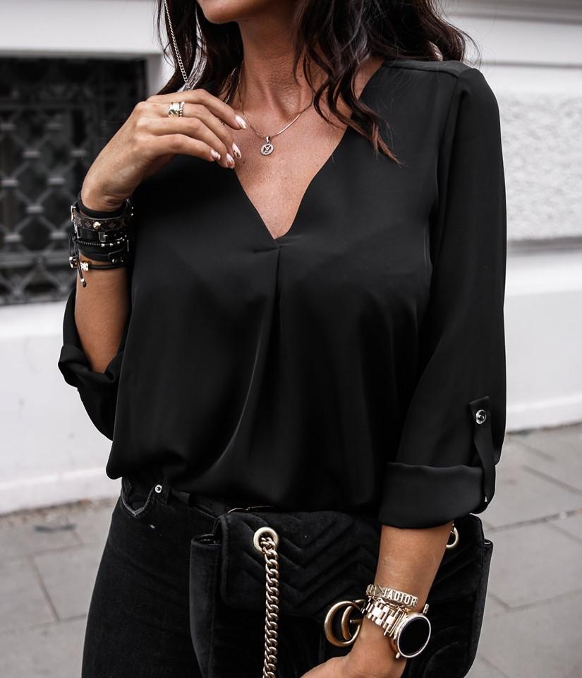 Elegantná dámska blúzka,čierna (Elegantná dámska blúzka,čierna)