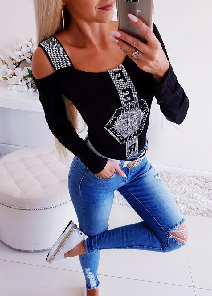 Dámske tričko s kamienkama (Luxusné dámske tričko)