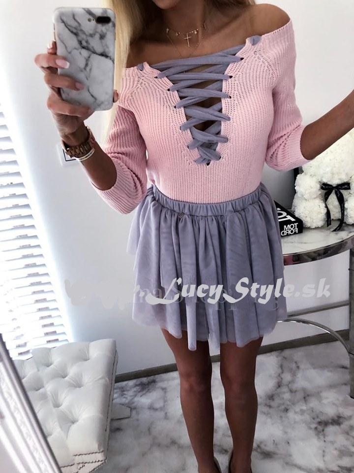 Dámsky ružový sveter (Dámsky ružový sveter)
