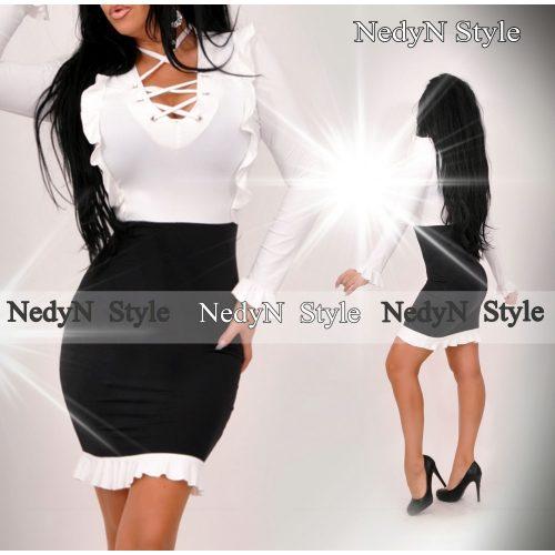 Dámske bielo čierne šaty (Dámske bielo čierne šaty )