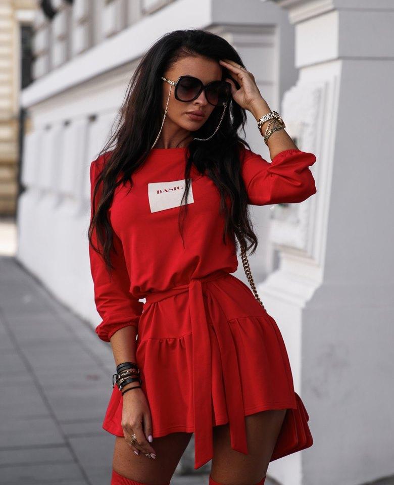 Štýlové dámske šaty ,červené (Štýlové dámske šaty ,červené)