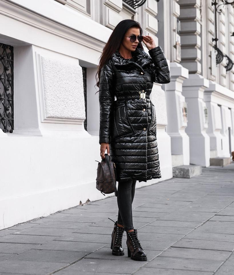 Dámska predlžená bunda,čierna (Dámska predlžená bunda,čierna)