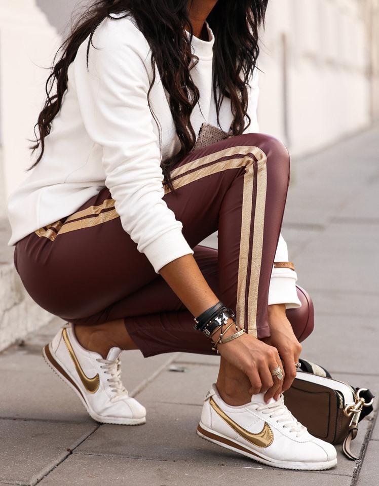Dámske koženkové nohavice (Dámske koženkové nohavice)