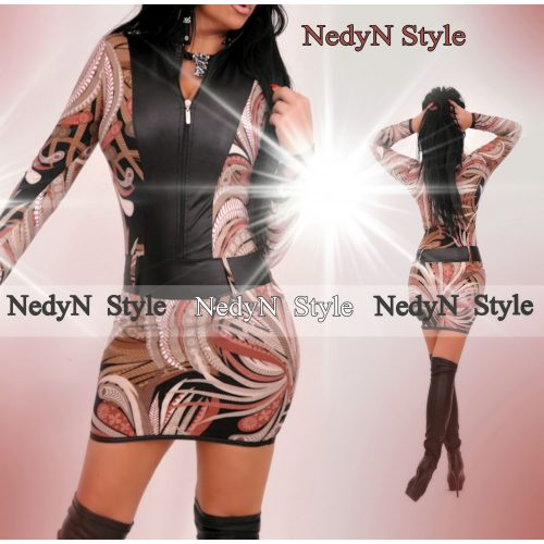 Dámske úpletové šaty (Dámske úpletové šaty na zips)