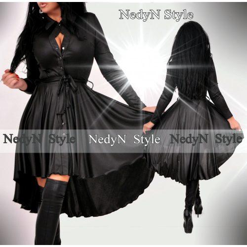 Dámske čierne košeľové šaty (Dámske čierne košeľové šaty)