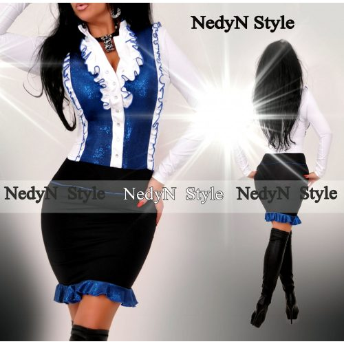 Dámske elegantné šaty (Dámske elegantné šaty ,bielo modré)