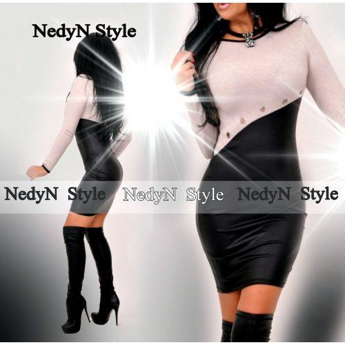 Dámske šaty s dlhým rukávom (Dámske čierne elegantné šaty )
