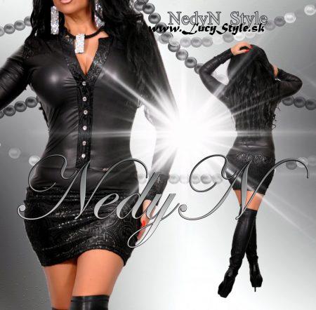Dámske čierne šaty s dlhým rukávom (Dámske čierne šaty s dlhým rukávom)