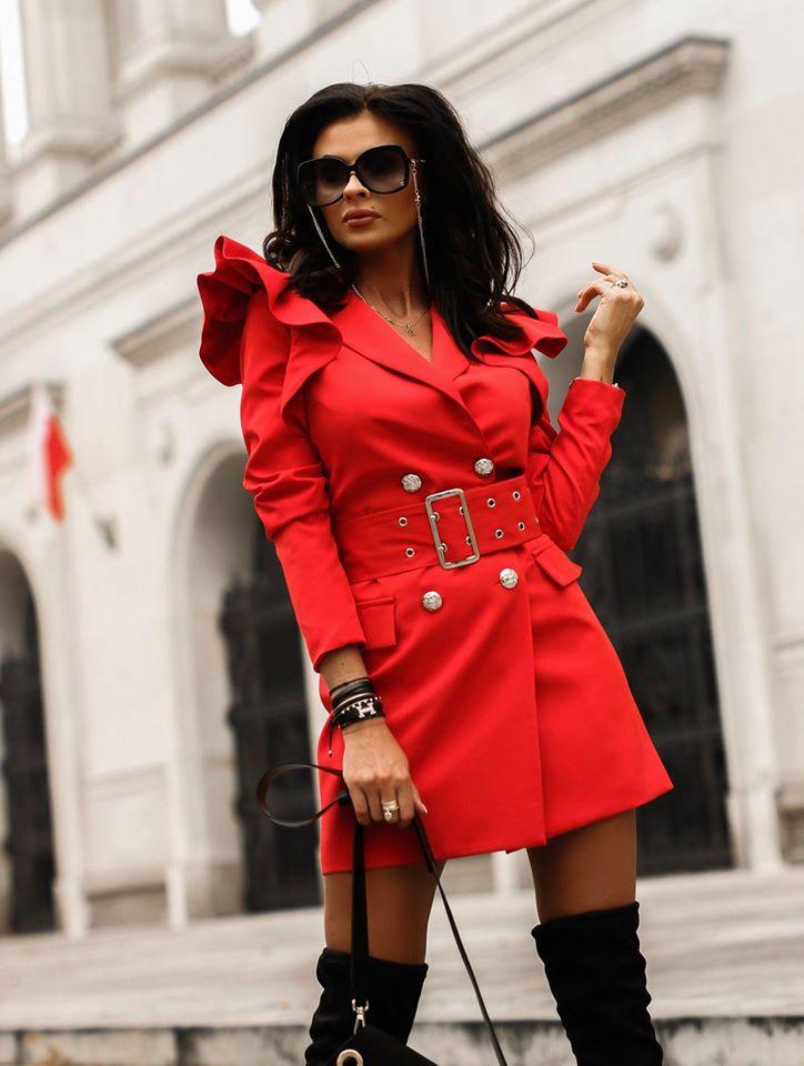 Luxusné dámske šaty Valentino,červené (Luxusné dámske šaty Valentino,červené)
