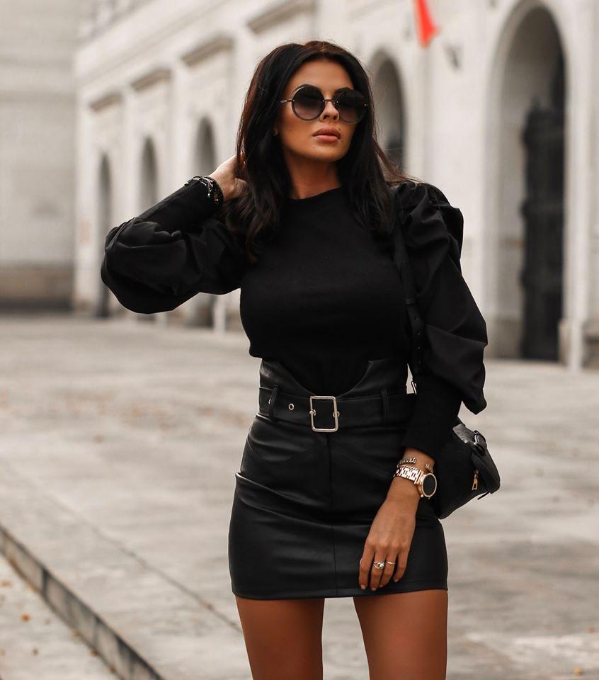 Dámska koženková sukna,čierna (Dámska koženková sukna,čierna)