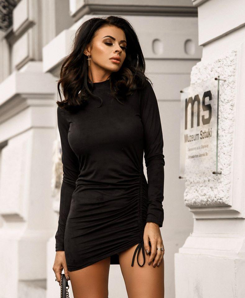 Dámske čierne šaty (Dámske čierne mini šaty )