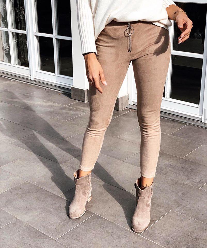 Dámske nohavice na zips (Dámske leginové nohavice na zips,úžasný materiál)