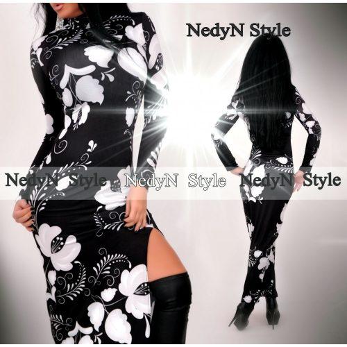 Bielo čierne dámske maxi šaty (Bielo čierne dámske maxi šaty )