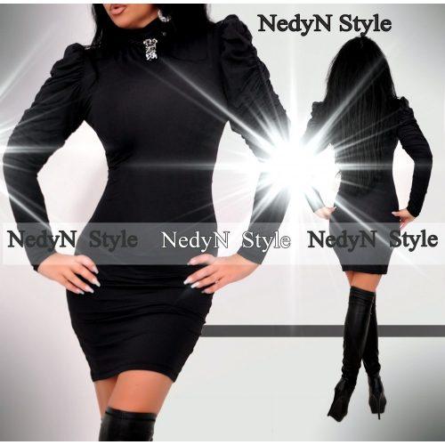 Elegantné čierne šaty s dlhým rukávom (Elegantné čierne šaty s dlhým rukávom)