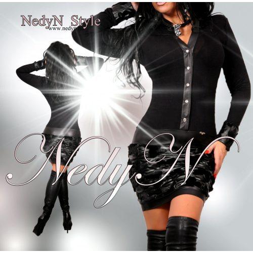 Dámske čierne šaty (Dámske čierne šaty na zips)