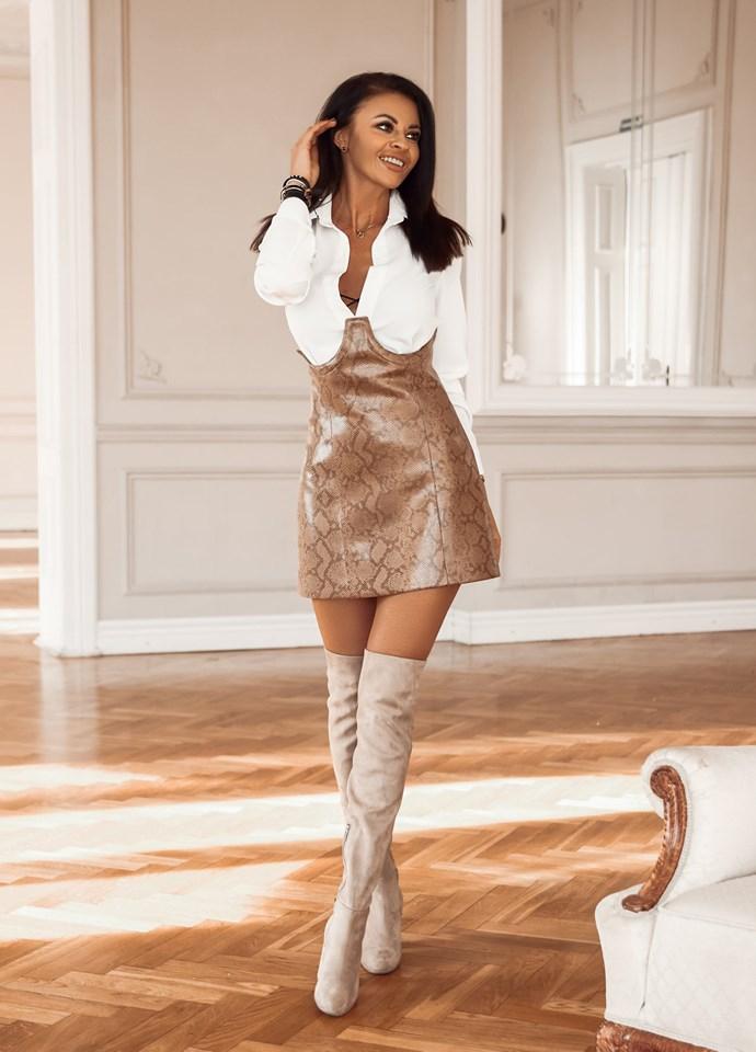 Štýlová dámska sukňa s vysokým pásom (Extravagantná dámska sukňa s vysokým pásom)