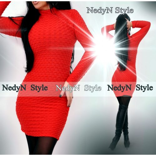 Dámske červené elastické šaty (Dámske červené elastické šaty)