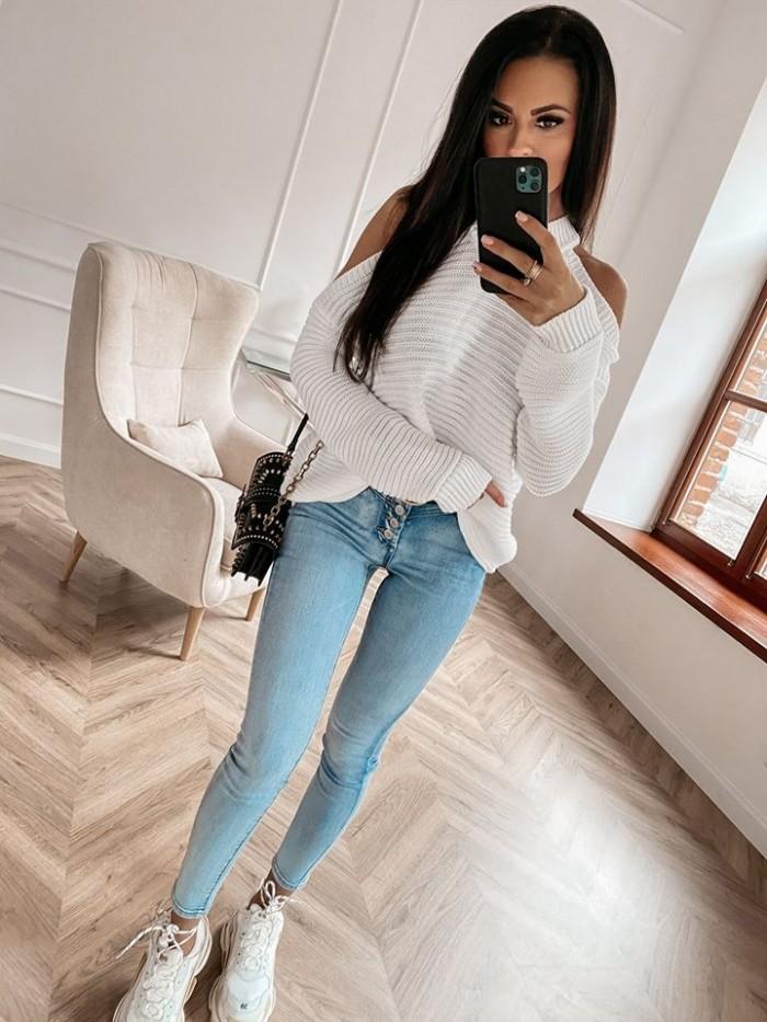 Dámsky biely sveter (Dámsky biely sveter)