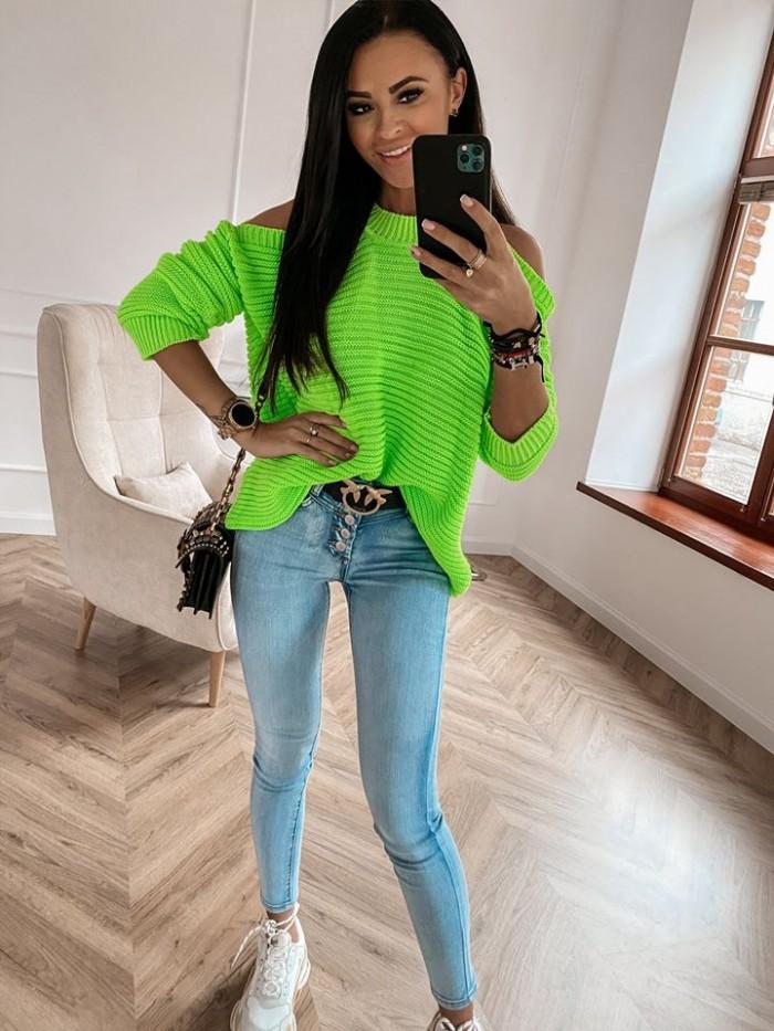 Dámsky zelený sveter (Dámsky zelený sveter)