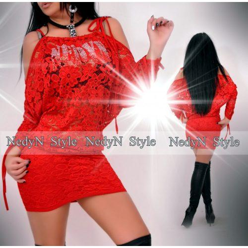 Dámske čipkované červené šaty (Dámske čipkované červené šaty)