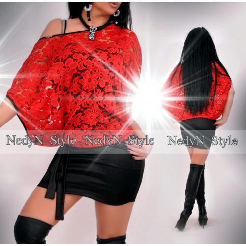 Dámske šaty s čipkou,červeno čierne (Dámske šaty s čipkou,červeno čierne)