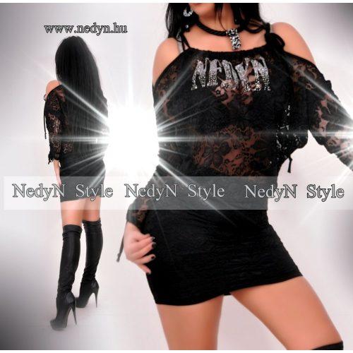 Dámske čierne šaty s čipkou (Dámske čierne šaty s čipkou)