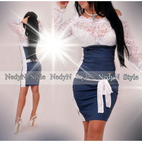 Dámske riflové šaty s čipkou (Dámske riflové šaty s čipkou)