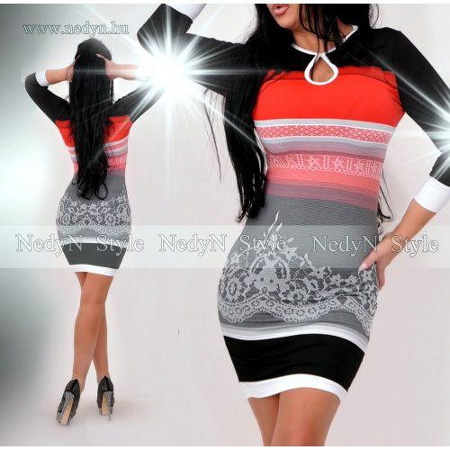 Dámske vzorované šaty s pásikmi (Dámske vzorované šaty s pásikmi)
