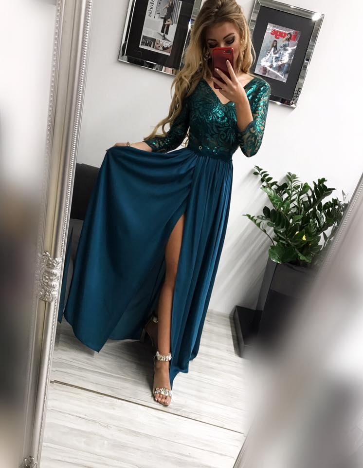 4ed71553c76f Krásne dámske spoločenské šaty v zelenej farbe empty